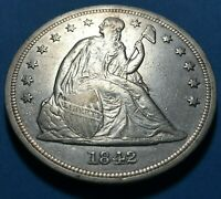 1842 SEATED LIBERTY SILVER DOLLAR U.S. COIN