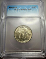 1920 D ICG MINT STATE 66 FH STANDING LIBERTY