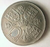 1953 GREAT BRITAIN CROWN   AU   RARE YEAR/DATE COIN   LOT J2