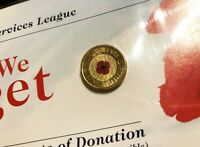 2012 AUSTRALIA $2 COIN   RED POPPY   LEST WE FORGET   UNC   SEALED IN RSL CARD