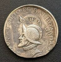 PANAMA 1/4 BALBOA 1982 DOUBLE STRUCK AND OFFSTRUCK ERROR PED