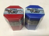 2008 ANDREW JACKSON PRESIDENTIAL DOLLAR ROLLS P & D ICG MINT STATE 63 OR BETTER
