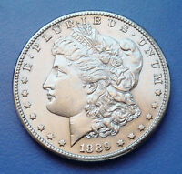 SEMI-KEY 1889-S U.S. MORGAN SILVER DOLLAR  ALMOST UNCIRCULATED PLUS CONDITION