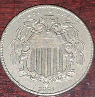 1868 SHIELD NICKEL IN EXTRA FINE M500