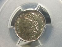 REALLY OLD 1832 CAPPED BUST HALF DIME  PCGS  AU 55 IT LOOKS NICER THAN ITS GRADE