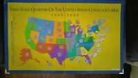 FIRST STATE QUARTERS OF THE US COLLECTOR'S MAP ALL 50 STATES