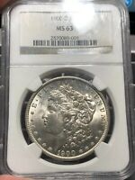 1900-O US MORGAN SILVER DOLLAR $1 - NGC MINT STATE 63