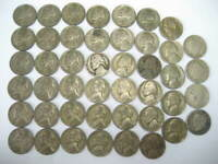 45 COINS -- 41 WAR NICKELS 35 SILVER & 4 LIBERTY NICKELS - MIXED DATES & MINTS