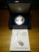 2016-W AMERICAN 1 OZ .999 SILVER EAGLE 30TH ANNIVERSARY LETTERED EDGE PROOF COIN