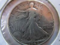 1942 S - WALKING LIBERTY HALF DOLLAR - SILVER - VF CONDITION