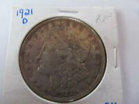 1921-D MORGAN SILVER DOLLAR EXTRA FINE  ONLY YEAR DENVER MINTED MORGANS A ONE YEAR TYPE
