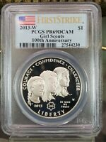 2013-W GIRL SCOUTS COMMEMORATIVE PROOF SILVER $1 - PCGS PR69 DCAM - FIRST STRIKE