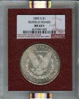 1895-S MORGAN DOLLAR S$1 NGC MINT STATE 62 REDFIELD COLLECTION