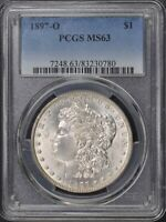 1897-O $1 MORGAN DOLLAR PCGS MINT STATE 63