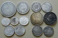 EGYPT  SAUDI ARABIA 13 X SILVER COINS / MEDAL DIFFERENT YEAR