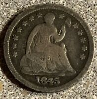 1845 HALF DIME IN ABOUT FINE CONDITION M556