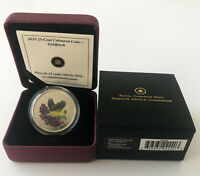 with Certificate 2010 25 Cent Coin Canada Coloured Goldfinch COA /& Box