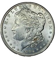 1882 BU MORGAN SILVER DOLLAR $1 COIN