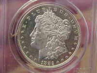 1882 P MORGAN SILVER DOLLAR PCGS MINT STATE 62 PL PROOFLIKE FULL FEATHERS HAIR MIRRORS
