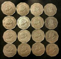 OLD EASTERN CARIBBEAN STATES COIN LOT   16 UNCOMMON DOLLAR C