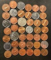 OLD CAYMAN ISLANDS COIN LOT   42 EXCELLENT SCARCE COINS   LO