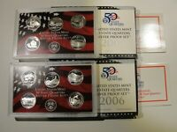 2005 & 2006 US PROOF SILVER STATEHOOD QUARTER SETS 90  $2.50