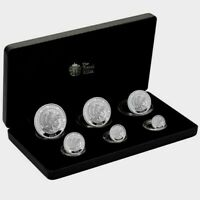 THE ROYAL MINT BRITANNIA 2018 UK 6 COIN SILVER PROOF SET /10