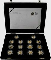 2008 UK 1 POUND SILVER PROOF 25TH ANNIVERSARY 14 COIN SET /1