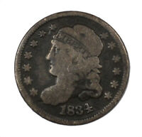 1834 CAPPED BUST EARLY US HALF DIME H10C CIRCULATED SLIGHTLY BENT