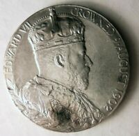 1902 GREAT BRITAIN   KING GEORGE V CORONATION SILVER MEDAL