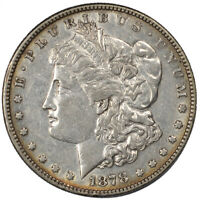 1878-P 7/8TF MORGAN SILVER DOLLAR $1 AU DETAILS HAIRLINES