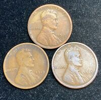 1919 P D S LINCOLN WHEAT PENNIES- SHIPS FREE