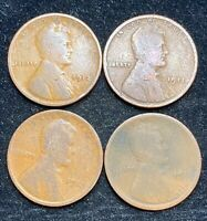 1911-1914 P LINCOLN WHEAT PENNIES- SHIPS FREE