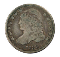 1835 CAPPED BUST EARLY US SILVER DIME 10C CIRCULATED