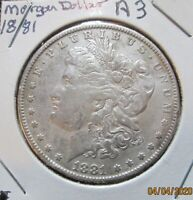 1881 MORGAN SILVER DOLLAR  LOT A3