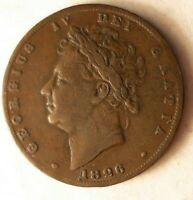 1826 GREAT BRITAIN FARTHING   EXCELLENT  OLDER COIN   LOT A6