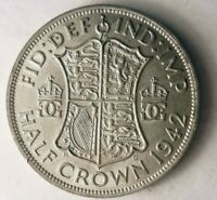 1942 GREAT BRITAIN 1/2 CROWN   HIGH QUALITY VINTAGE SILVER C