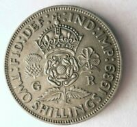 1939 GREAT BRITAIN FLORIN    HIGH QUALITY VINTAGE SILVER COI