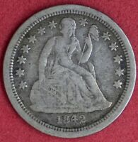 1842-O SEATED LIBERTY DIME FINE