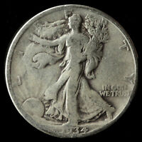 1934-D WALKING LIBERTY 90 SILVER HALF SHIPS FREE. BUY 5 FOR $2 OFF