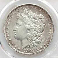 1901 P PCGS EXTRA FINE  DETAILS VAM-3 SHIFTED EAGLE MORGAN DOLLAR TOP 100 WOW DDR REVERSE