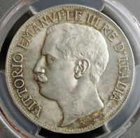 Click now to see the BUY IT NOW Price! 1911 ITALY VICTOR EMMANUEL III. SILVER 5 LIRE COIN BY LUIGI GIORGI. PCGS MS63