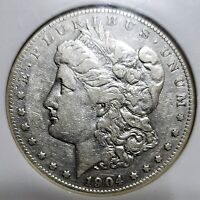 1904-S MORGAN SILVER DOLLAR NGC VF-25  AWESOME LOOKING FOR THE GRADE