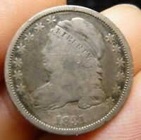 1831 CAPPED LIBERTY BUST DIME