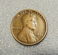 ONE 1924 S LINCOLN  WHEAT CENT --------------> F
