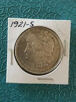 1921 S SILVER MORGAN DOLLAR,