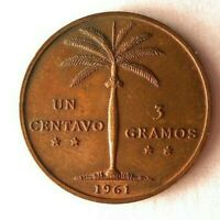 1961 DOMINICAN REPUBLIC CENTAVO   AU/UNC   GREAT VINTAGE COI