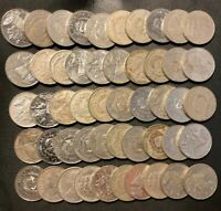 OLD DOMINICAN REPUBLIC COIN LOT   50 COINS   OVERSTOCK   LOT