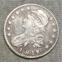 1818/7 CAPPED BUST HALF DOLLAR   SMALL