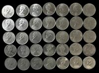 LOT OF 35 CANADA 25 CENT $8.75 FACE 50  SILVER 1967 MANY AU/